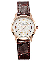 cheap -Women's Wrist Watch Water Resistant / Water Proof Leather Band Charm / Casual / Fashion Black / White / Red