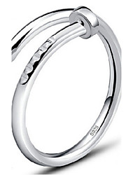 cheap -Women's Band Rings Adjustable Sterling Silver Jewelry Party Daily Casual