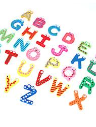 Недорогие -26 красочных дети деревянный алфавит письмо холодильник магнит ребенок образовательные игрушки