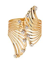 Недорогие -Браслет разомкнутое кольцо Уникальный дизайн Мода Pоскошные ювелирные изделия бижутерия Искусственный бриллиант Бижутерия Перо Бижутерия