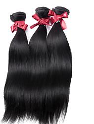 billige -3 pakker Malaysisk hår Rett 10A Remy Menneskehår Menneskehår Vevet Hårvever med menneskehår Hairextensions med menneskehår