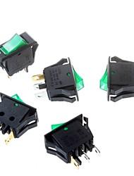 abordables -interrupteur à bascule vert 16 * 32mm commutateur trépied 3p alimentation à bascule