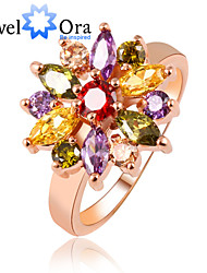 billige -Dame Band Ring Rose Guld Kvadratisk Zirconium Guldbelagt Legering Elegant Mode Fest Kostume smykker