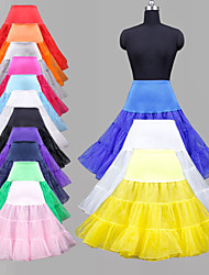 cheap -Wedding Special Occasion Party / Evening Daily Slips Polyester Organza Tulle Lycra Knee-Length Ball Gown Slip Classic & Timeless with Dyed