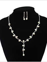 cheap -Women's Jewelry Set - Imitation Pearl Include Silver For Wedding / Party / Special Occasion / Anniversary / Engagement / Gift / Daily