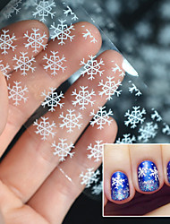 cheap -2016 Christmas Snowflake Stickers White Light Snow Transfer Printing Paste Star Paper Bottled 4 * 100