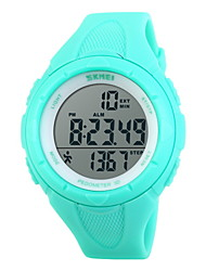 cheap -SKMEI® Unisex Pedometer LCD Digital Rubber Band Sports Watch Cool Watch Unique Watch