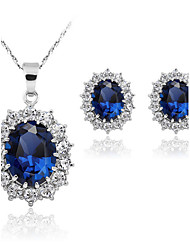cheap -The Fashion Sapphire Necklace Jewelry Sets(Set of 2)