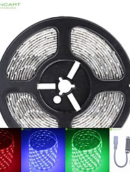 cheap -SENCART 5m RGB Strip Lights 300 LEDs RGB Remote Control / RC / Cuttable / Dimmable 12V / 5050 SMD / IP68 / Waterproof / Linkable