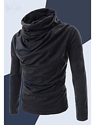 preiswerte -Informell / Business Rund - Langarm - MEN - Freizeithemden ( Baumwolle / Baumwoll Mischung )