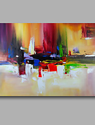cheap -Oil Painting Hand Painted - Abstract Modern
