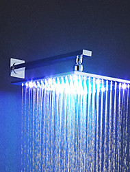 cheap -Contemporary Rain Shower Chrome Feature - Rainfall LED, Shower Head