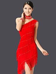 cheap -Latin Dance Dresses Women's Performance Chinlon Tassel(s) 1 Piece More Colors Available