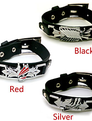 cheap -Jewelry Inspired by Attack on Titan Cosplay Anime Cosplay Accessories Bracelet PU Leather Alloy Men's Women's Hot