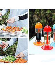 garrafa de óleo de cozinha portátil churrasco prinkling pode frascos tempero do molho de soja vinagre latas de imprensa a cor aleatória