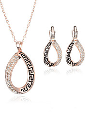 cheap -Women's Rose Gold Jewelry Set 1 Necklace 1 Pair of Earrings - Jewelry Set For Wedding Party Daily Casual
