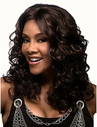 cheap -Synthetic Wig Wavy Synthetic Hair African American Wig Wig Women's Medium Length Capless