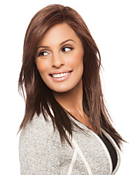 cheap -Capless High Quality Synthetic Medium Length Brown Color Wig