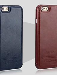 iphone 7 плюс новая роскошная кожа назад и металлический каркас телефон случае для iphone 6 / 6с
