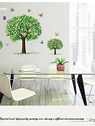 AWOO® New Trees Butterfly  Wall Art Decal Decoration Fashion Wall Stickers Home Decor 3D Wallpaper for Living Room