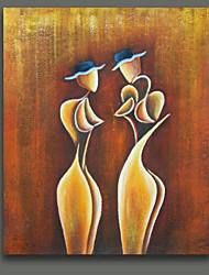 baratos -Pintados à mão Retratos AbstratosEstilo Europeu 1 Painel Tela Pintura a Óleo For Decoração para casa