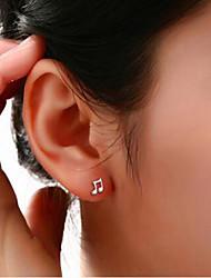 abordables -Femme Boucles d'oreille goujon - Plaqué argent, Imitation Diamant Pour Mariage Soirée Quotidien