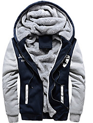 preiswerte -Solide Druck Normal Übergröße Standard Jacke Baumwolle