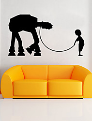 cheap -W-17Star Wars Wall Art Sticker Wall Decal DIY Home Decoration Wall Mural Removable Bedroom Sticker