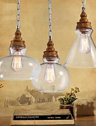 Vintage LED Privjesak Svjetla Ambient Light Za Stambeni prostor Spavaća soba Kupaonica Kuhinja Trpezarija Study Room/Office Outdoor