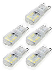 abordables -4W G9 Luces LED de Doble Pin T 14 leds SMD 2835 Regulable Decorativa Blanco Cálido Blanco Fresco 300-400lm 2800-3200/6000-6500K AC 100-240