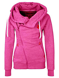 cheap -Women's Maternity Daily Casual Hoodie Jacket Solid Hooded Inelastic Polyester Long Sleeve Fall