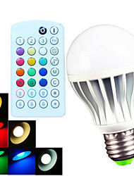 cheap -B22 E26/E27 LED Globe Bulbs A60(A19) 15 SMD 5730 700 lm Warm White Cold White Natural White RGB 2900~6500 K Dimmable Remote-Controlled