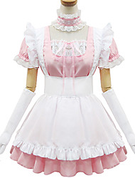 cheap -Sweet Lolita Dress Princess Women's Maid Suits Cosplay Pink Short Sleeves
