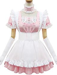 Sweet Lolita Dress Princess Women's Maid Suits Cosplay Pink Short Sleeves