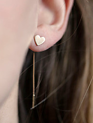 Women's Drop Earrings Love Simple Style European Costume Jewelry Alloy Heart Jewelry For Daily Casual