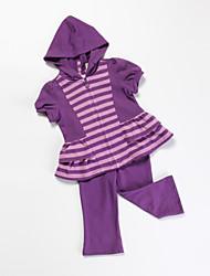 preiswerte -Mädchen Kleidungs Set Baumwolle Ganzjährig Lila