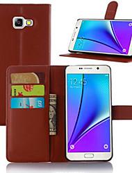 levne -Carcasă Pro Samsung Galaxy Samsung Galaxy pouzdro Pouzdro na karty / se stojánkem / Flip Celý kryt Jednobarevné PU kůže pro A3 (2017) / A5 (2017) / A7 (2017)