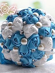 Bouquet sposa Tondo Rose Bouquet Matrimonio Raso 20 cm ca.