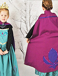 cheap -Princess Fairytale Elsa Cosplay Costume Movie Cosplay Blue Dress Halloween New Year Cotton