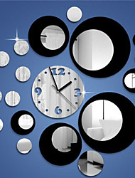 cheap -Fashion Top Grade Creative DIY Acrylic Mirror Wall Wall Poster Colours Roundness Wall Clock