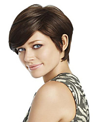 Top Quality And Cheapest Price Dark Brown  Short  Syntheic  Wig