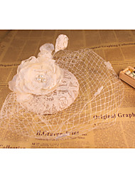 Flax Lace Net Fascinators Headpiece