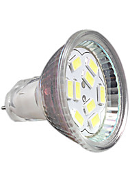 2W GU4(MR11) Lâmpadas de Foco de LED MR11 9 leds SMD 5730 Decorativa Branco Frio 200-250lm 6000-6500K DC 12V