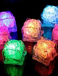 cheap -1PCS LED Ice Cubes Colorful Flash LED Light Ice Cubes Luminous LED Glowing Induction Wedding Festival Christmas Party Decor