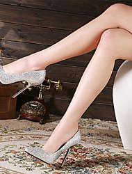 Blå / Sølv / Guld - Stilethæl - Kvinders Sko - Hæle / Spids tå - Glitter - Fest/aften - høje hæle