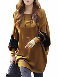 Women's Casual Micro-elastic Medium Long Sleeve Pullover (Wool/Knitwear) WP4D06