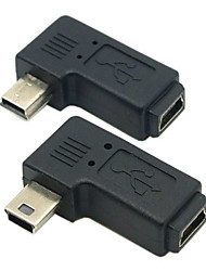 cheap -CY® Female Mini USB to Male Left and Right Turning Mini USB Adapter