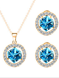 cheap -Jewelry Set Crystal Cute Party Cute Style Party Gemstone & Crystal Zircon Cubic Zirconia Rhinestone Rose Gold Plated Alloy Circle