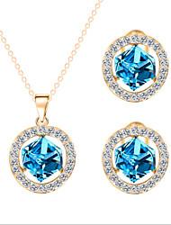 economico -Set di gioielli Cristallo Romantico Da serata stile sveglio Feste Pietra dura e cristallo Zirconi Zircone cubico Strass Placcato oro rosa