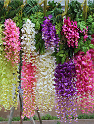 cheap -3 Branches Wisteria Artificial Flower Home Decoration Wedding Supply